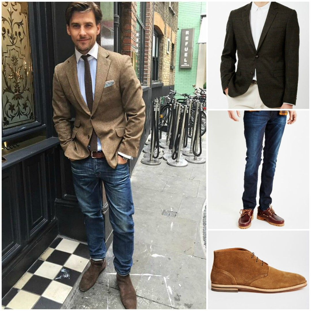 How To Wear Jeans with a Blazer Sports coat, jeans