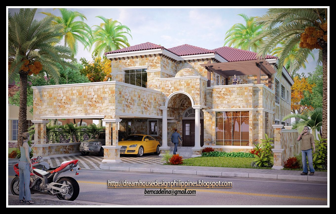 Mediterranean houses dream house design philippines for Home designs philippines
