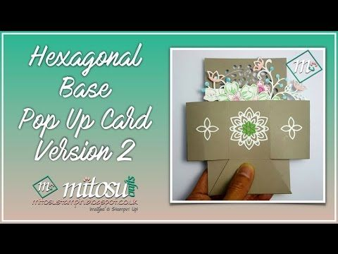 How To Make A Hexagonal Base Pop Up Card With The Window Shopping Bundle Youtube Pop Up Box Cards Box Cards Tutorial Hexagon Cards