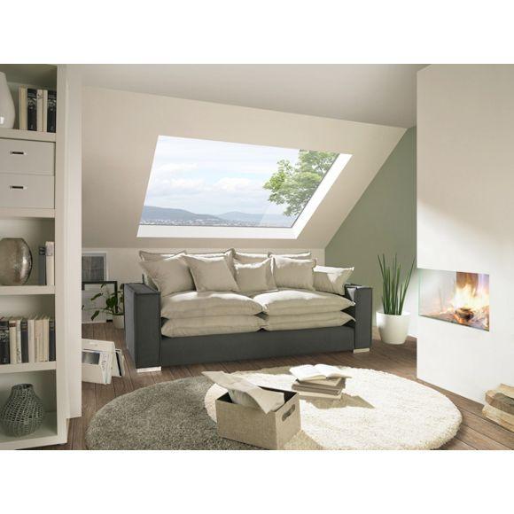 Traumhaftes Bigsofa von CARRYHOME mit vielen Kissen - big sofa oder wohnlandschaft