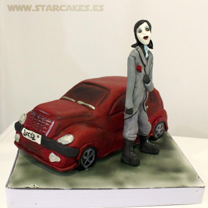 Tarta PT Cruiser Marilyn Manson cake. https://www.facebook.com/starcakes.es