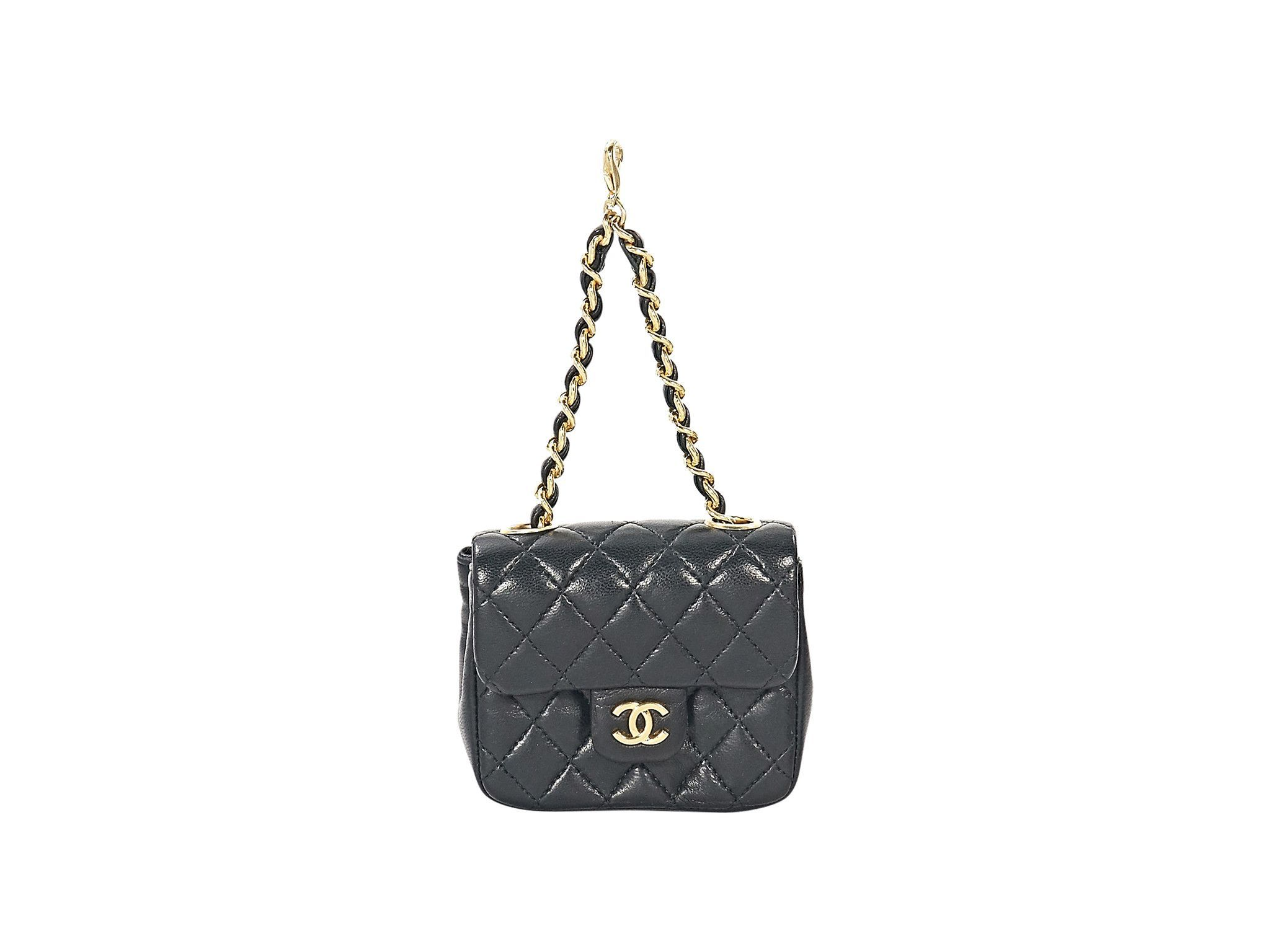 24b8dd9fba60 Black Chanel Quilted Leather Micro Mini Bag