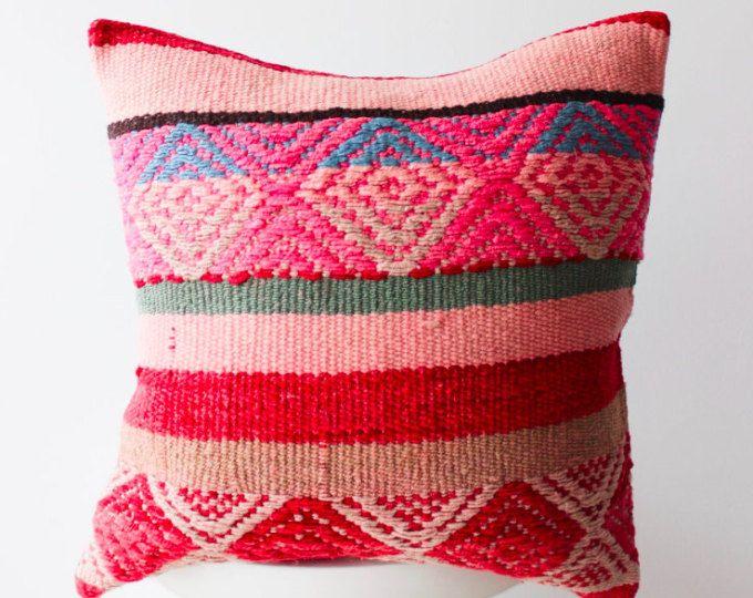 Frazada Motif Pillow Peruvian Hand Loomed Covers Striped 40 X 40 Best Peruvian Decorative Pillows