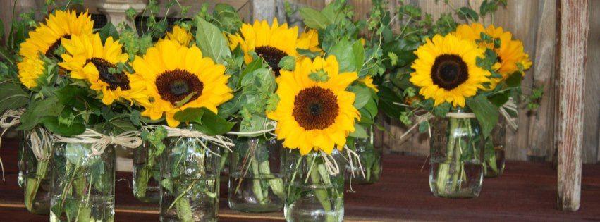 Love sunflower arrangements baby shower pinterest