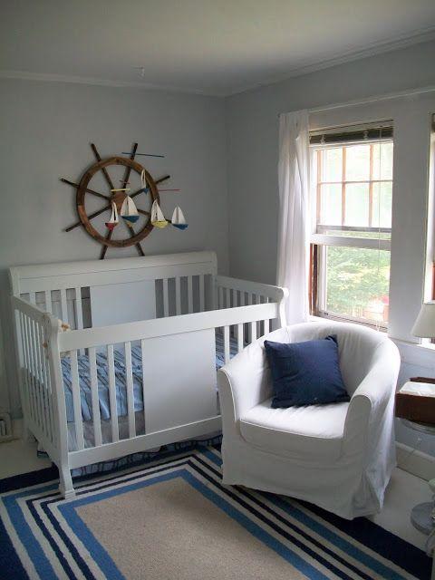 Nautical Baby Boy Nursery Room Ideas: Sailboat Nursery, Nautical Nursery