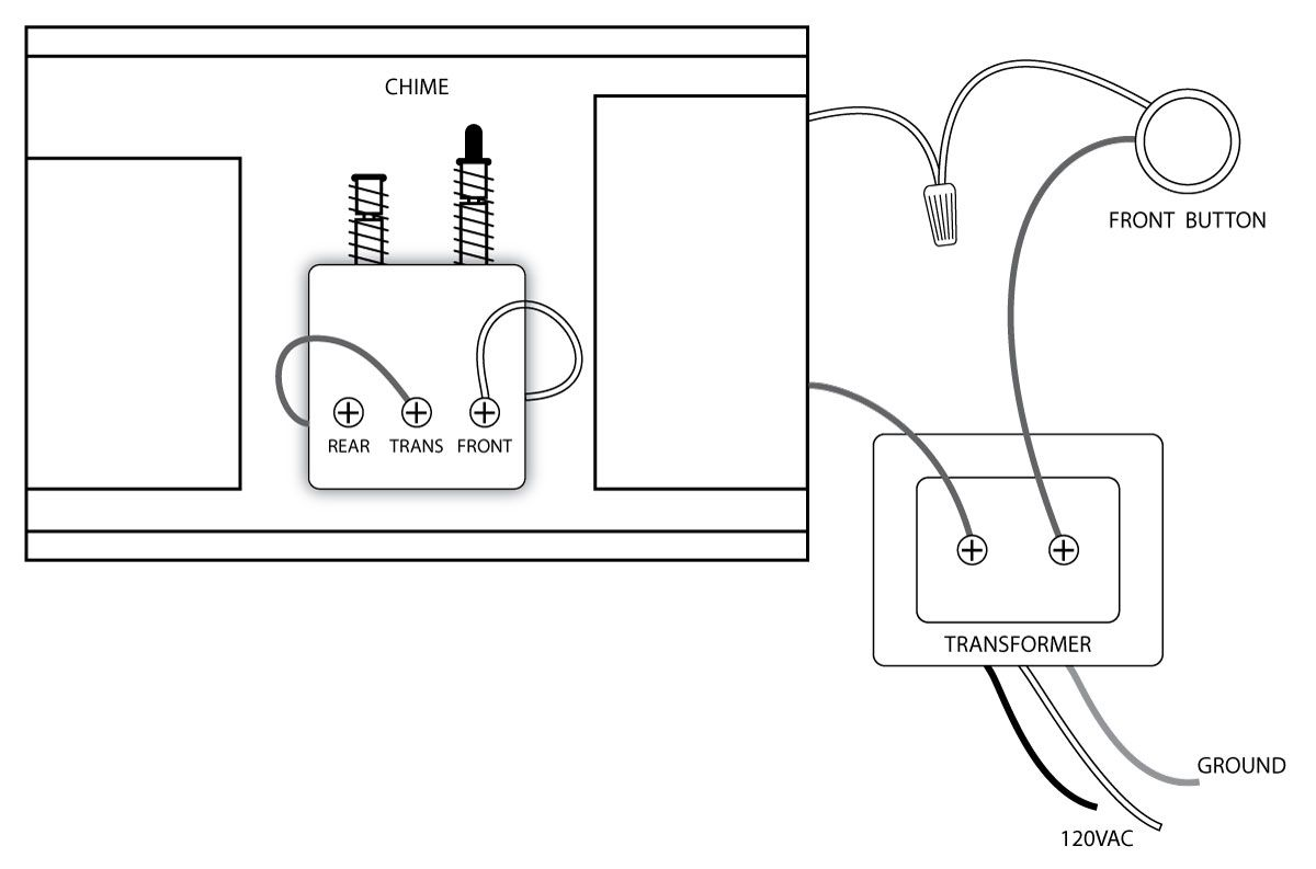 diagram for wiring three doorbells