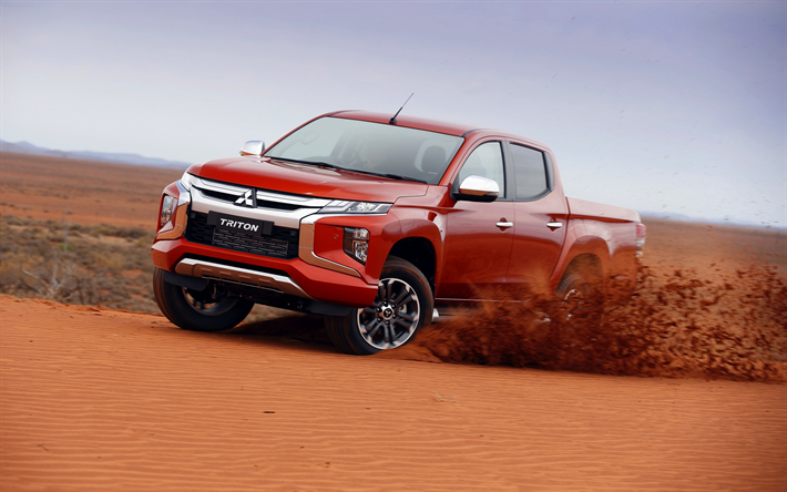 Download Wallpapers Mitsubishi Triton 2019 Double Cab New L200 Desert New Red Triton Japanese Pickup Trucks Mitsubishi Besthqwallpapers Com Mitsubishi Pickup Pickup Trucks Mitsubishi