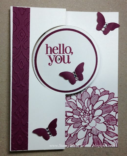 Stamp With Cynthia: Stampin Up Circle Thinlits Card - Razzleberry Dahlia Regarding Dahlias