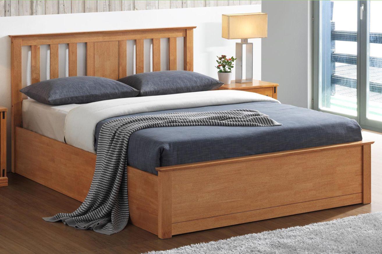 Swell Chester Oak Ottoman Storage Bed Frame 5Ft King Size Dailytribune Chair Design For Home Dailytribuneorg
