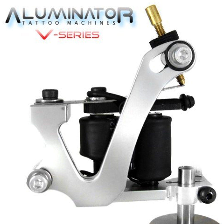 Aluminator classic v shape 8wrap tattoo machine silver