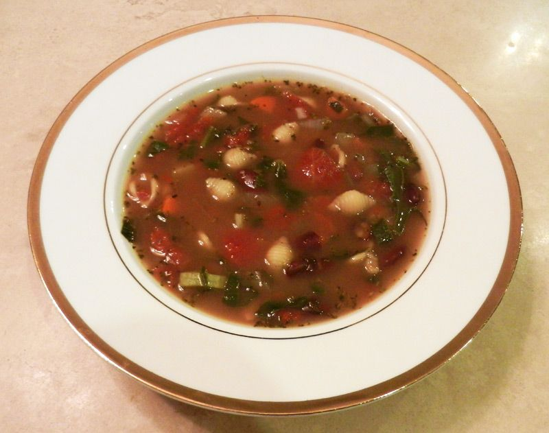 One Pot Minestrone Soup Kind Of Olive Garden Soup Click For Full Recipe Meatless Monday