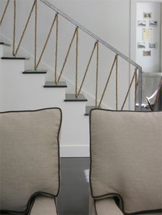 Rope Stair Railing Design By Antonio Martins  Not Quite Right For My Space,