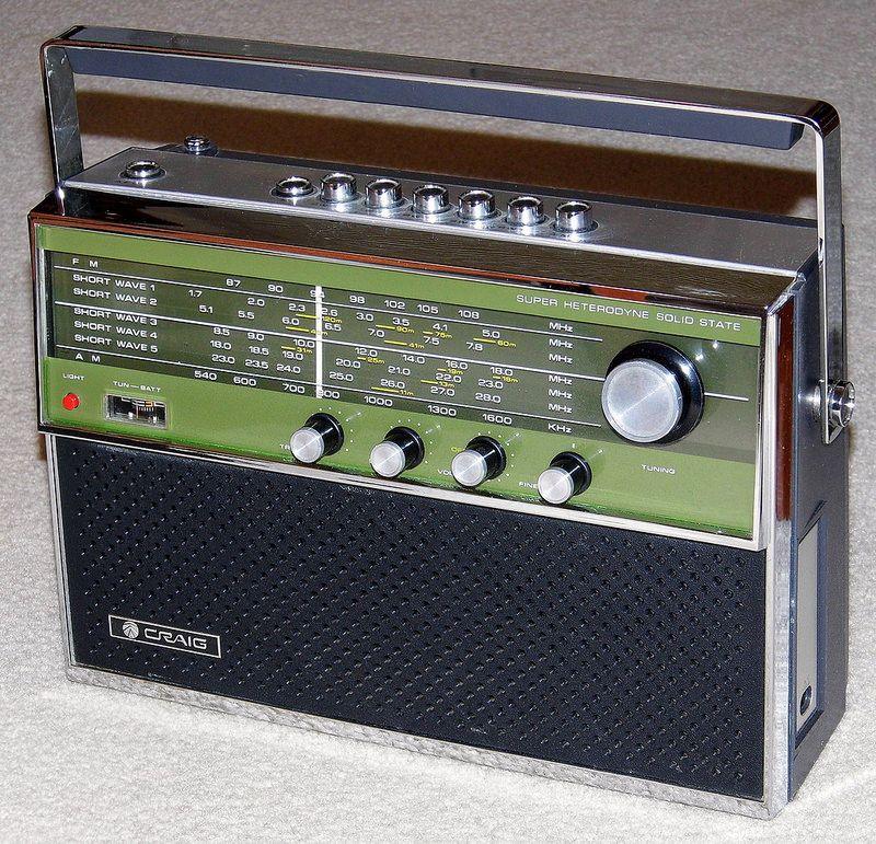 Vintage Craig Multi Band Am Fm Sw Portable Radio Model 1306 Solid State Made By Sanyo Electric Co In Japan Transistor Radio Vintage Vintage Radio Antique Radio