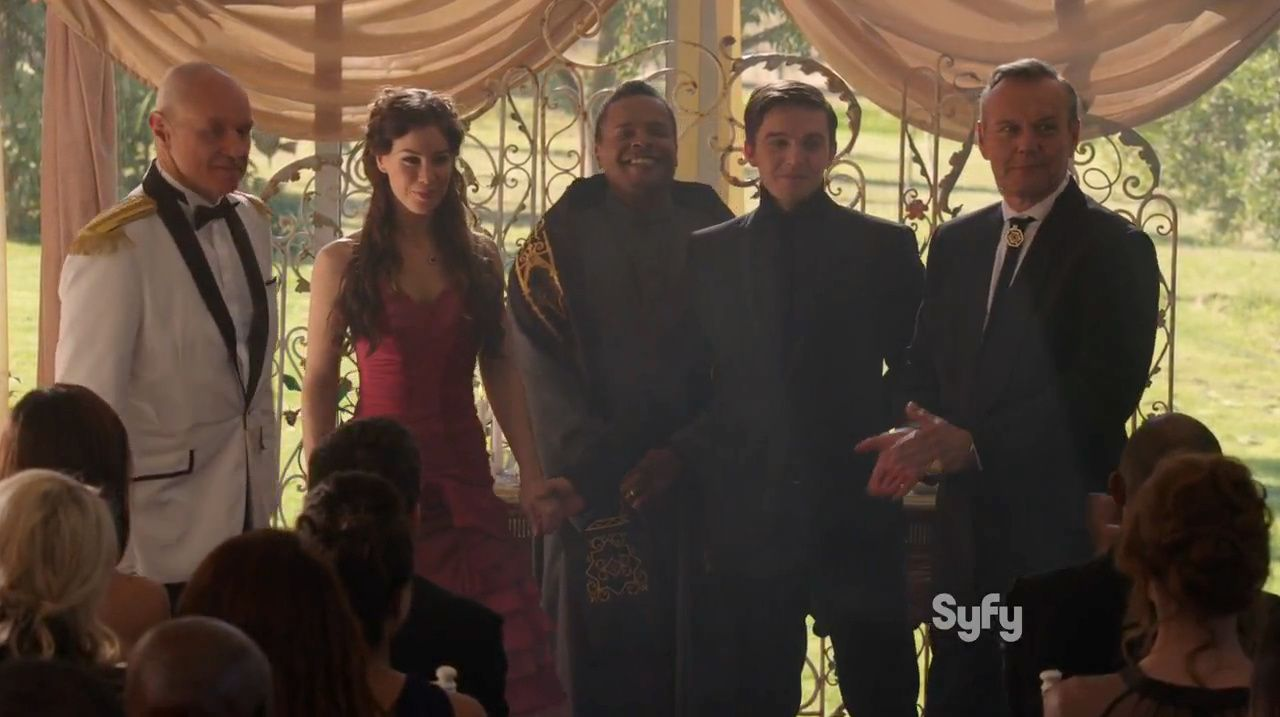 Claire and William's wedding | Dominion – S1E8 – Beware Those Closest to You #archangel #syfy #vega 1x08 #riesen #whele #giles