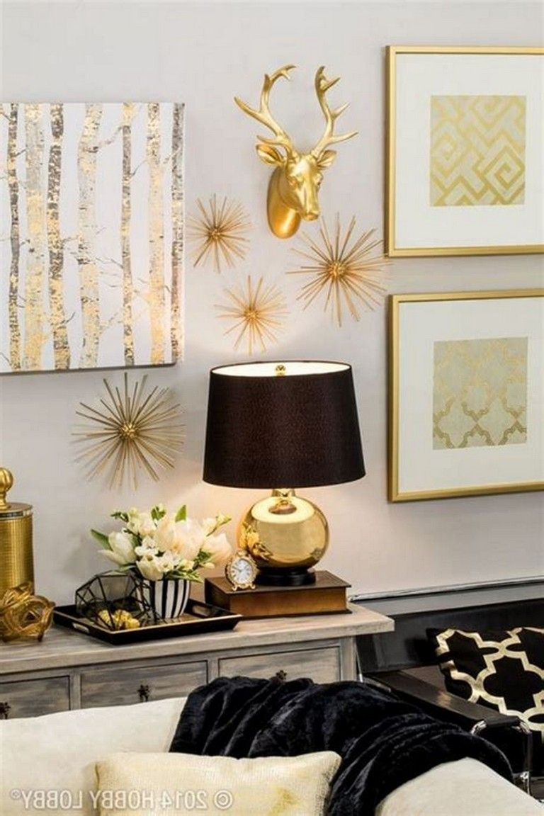 8 Best Fascinating Black And Gold Wall Decor Ideas For Your Home