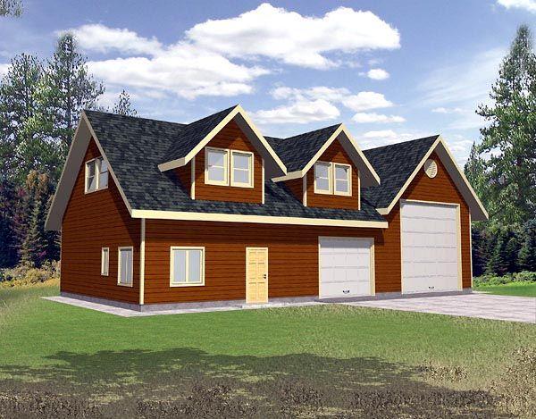 3 Car Garage Plan Number 86888 Rv Storage House Plan With Loft New House Plans Garage Plans With Loft
