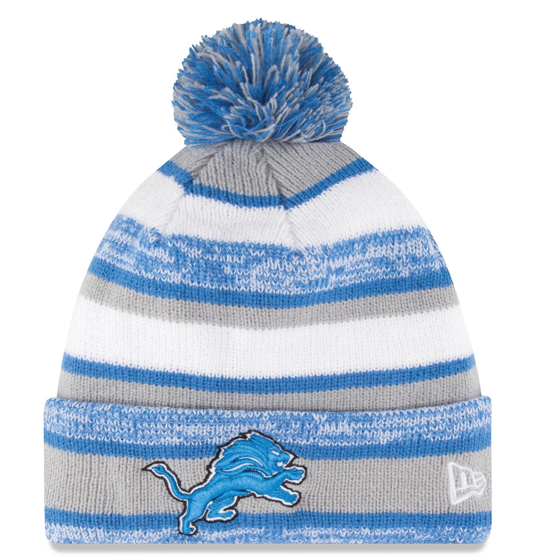 289a3230 Detroit Lions Nfl Official Sideline Sport Knit Hat | Detroit Lions ...