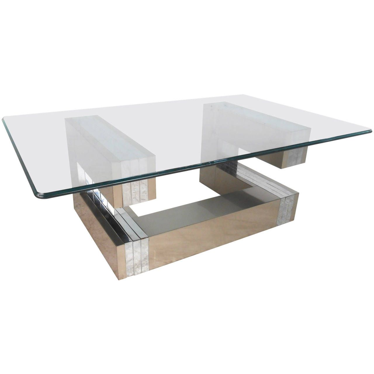 Mid-Century Modern Paul Evans Cityscape Cocktail Table   From a unique collection of antique and modern coffee and cocktail tables at https://www.1stdibs.com/furniture/tables/coffee-tables-cocktail-tables/