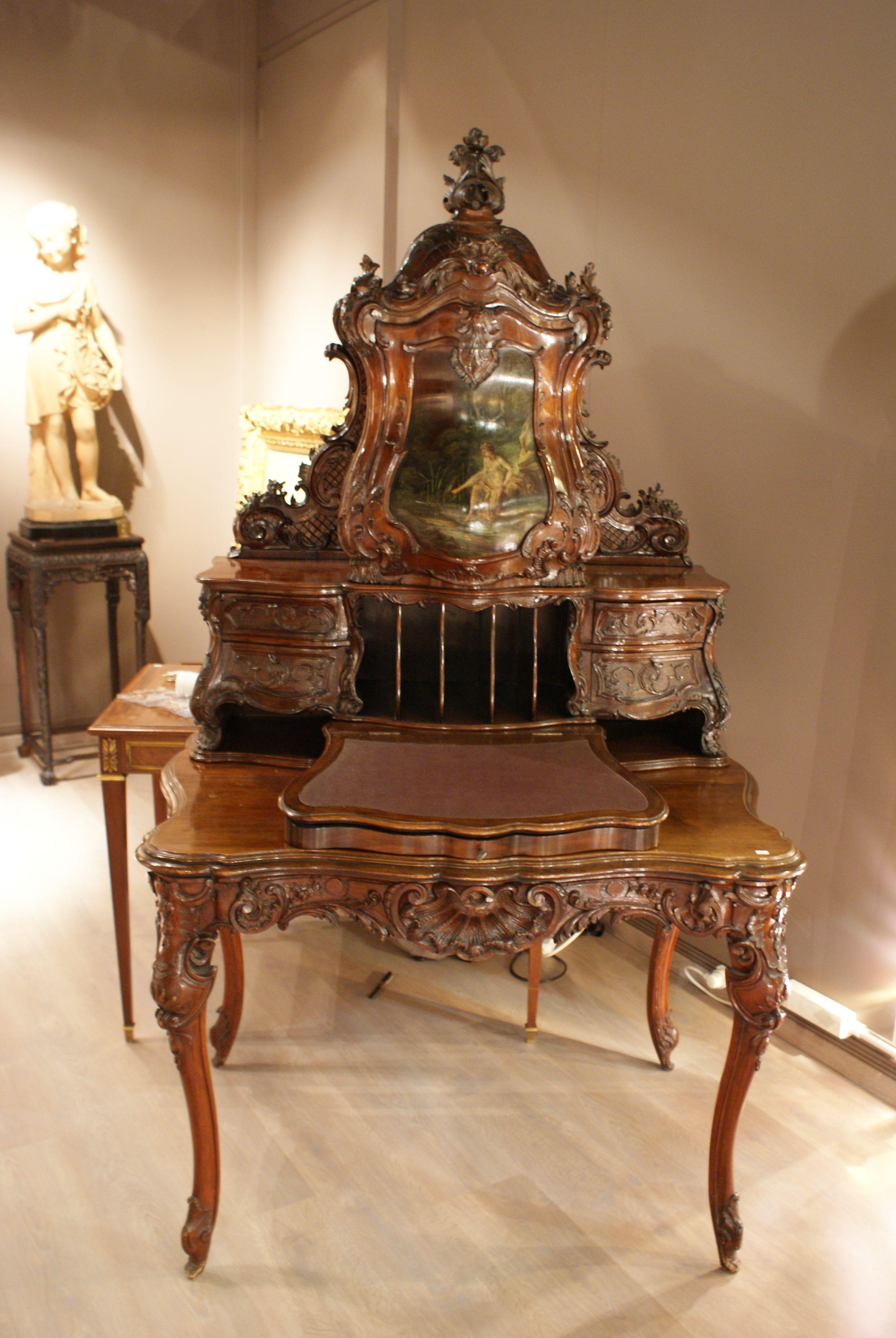 Bureau Louis Xv Chateau De Versailles Mobilier De Salon Meuble De Style Meuble Habitat