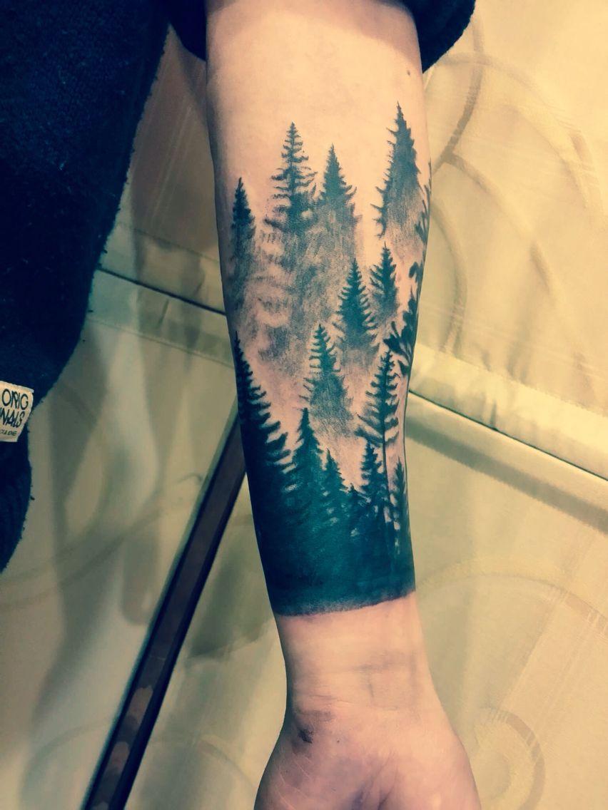 Tattoo Forearm Sleeve Designs: Forest Tattoo Sleeve, Nature