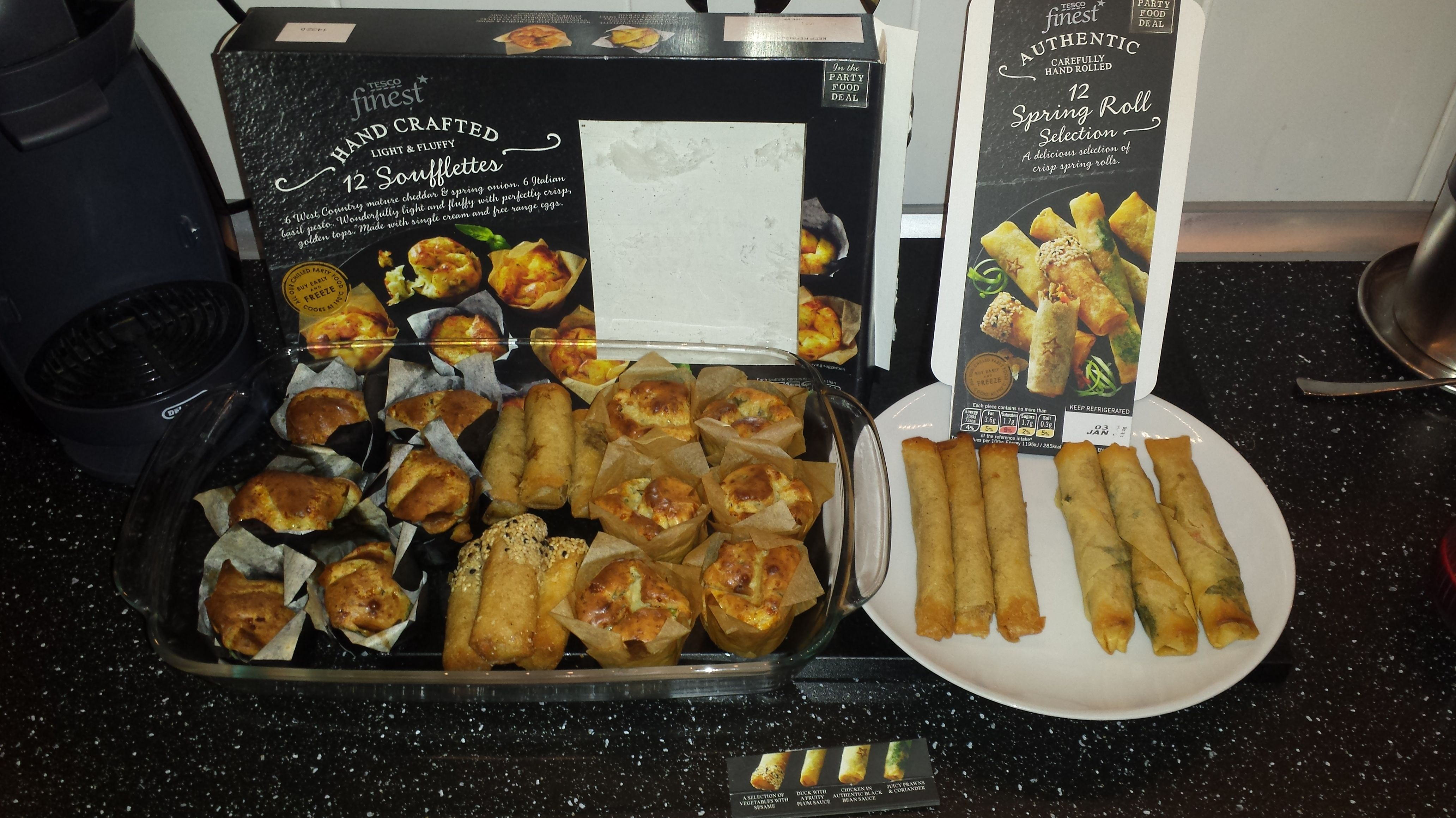 Tesco Finest Party Food Range Thanks For The Vouchers The