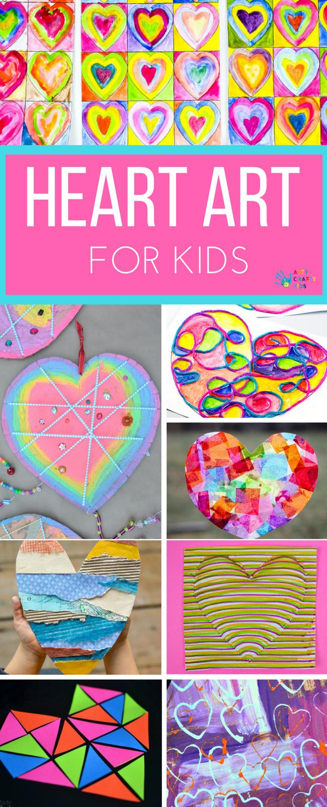 Heart Art Projects Preschool Valentines Art Heart Art Art Lessons