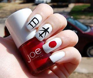 Japanese Nail Art ~ Pray for Japan! | 11/03/11 <3 日本