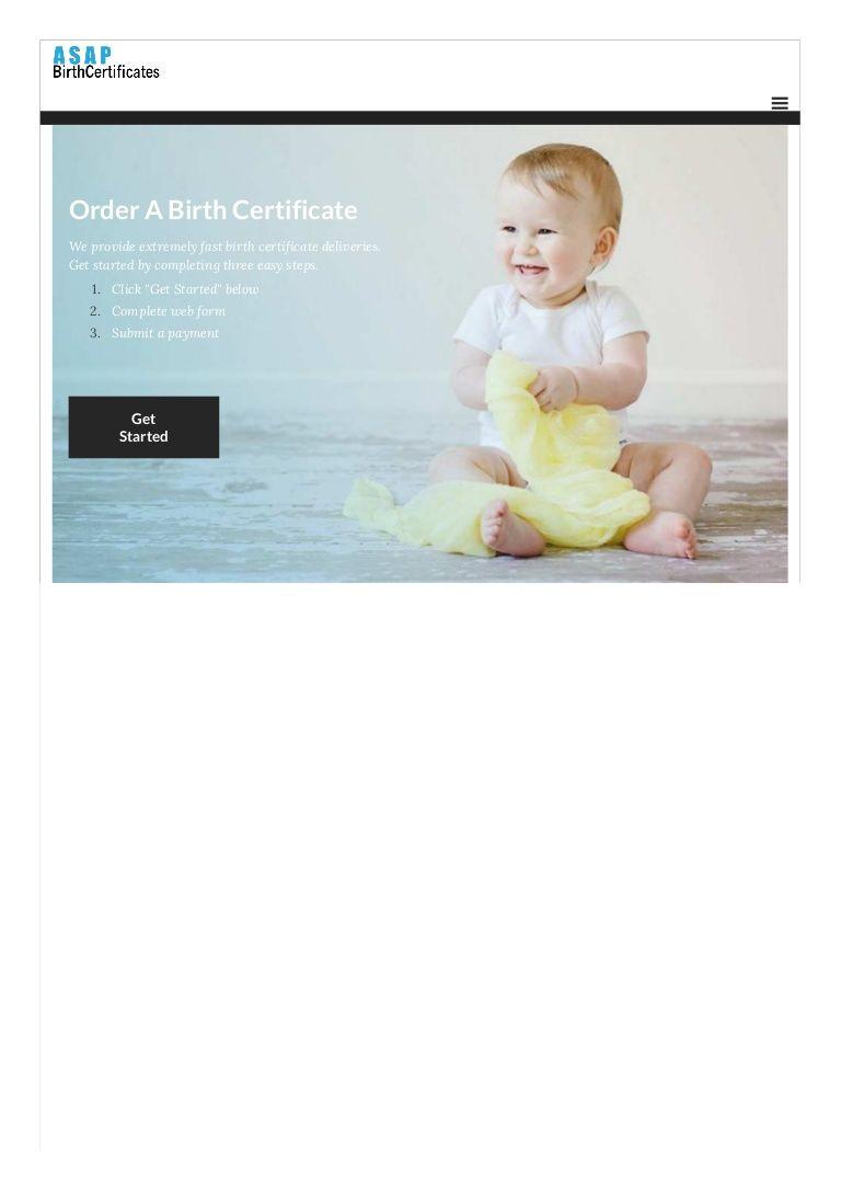birth certificate certificates