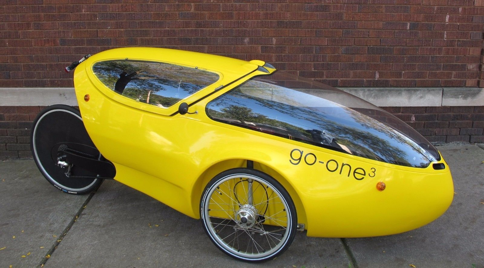 Go One 3 Velomobile Human Powered Vehicle Recumbent Trike Hpv