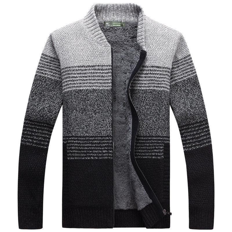 Winter Warm Thicken Casual Sweater Zipper Cardigans  deb4e053b