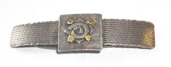 Arts & Crafts Era STERLING Silver BARRETTE Makers by feathersoup, $35.00  SOLD July