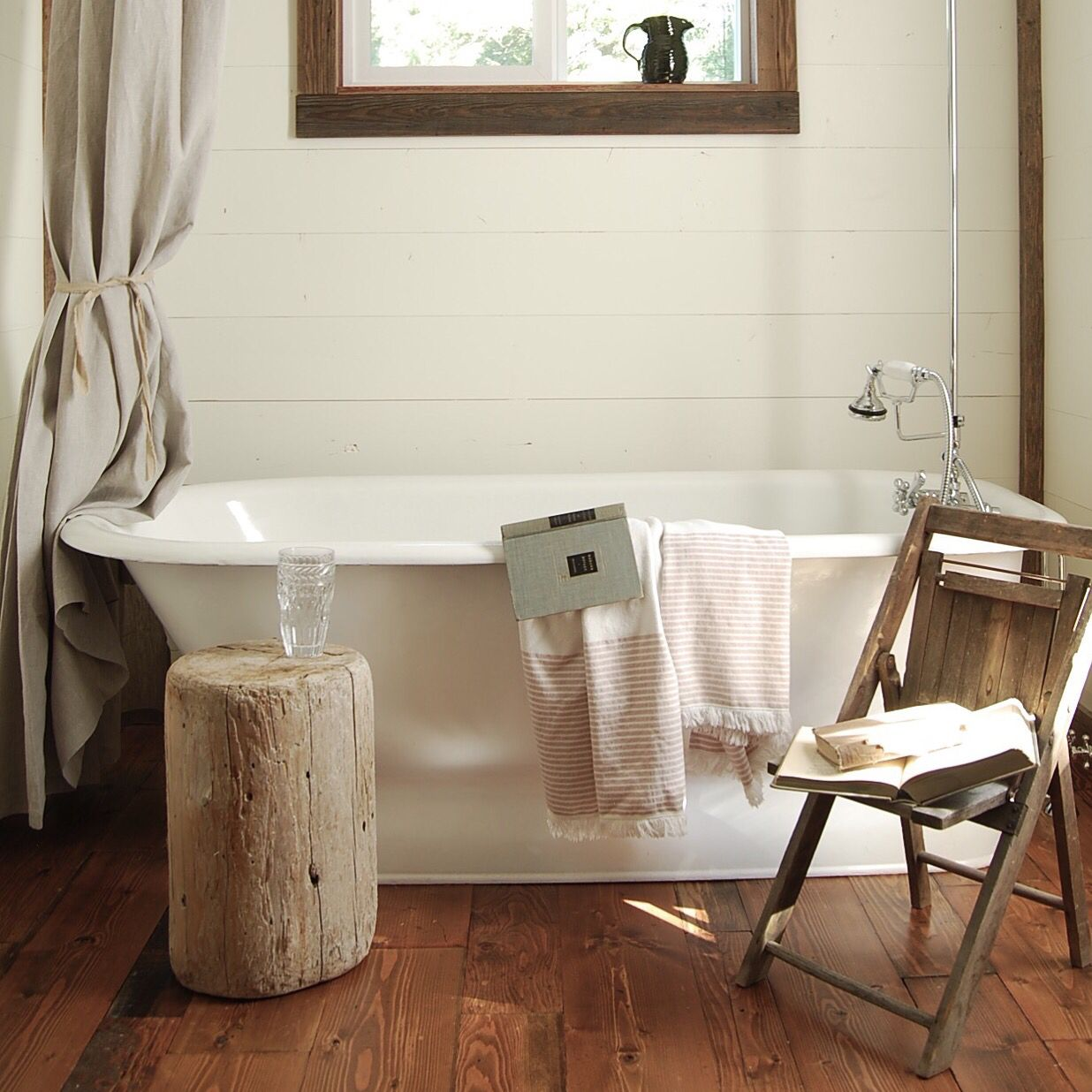Vintage cast iron tub in Montana farmhouse garnished with my old ...