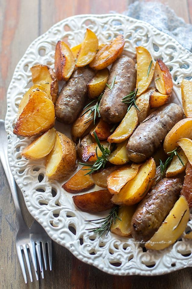 Photo of Sausage and baked potatoes (Quick and tasty recipe)