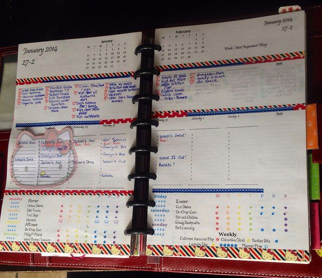 Arc Planner utilizing modified DIY Planner planner pad pages