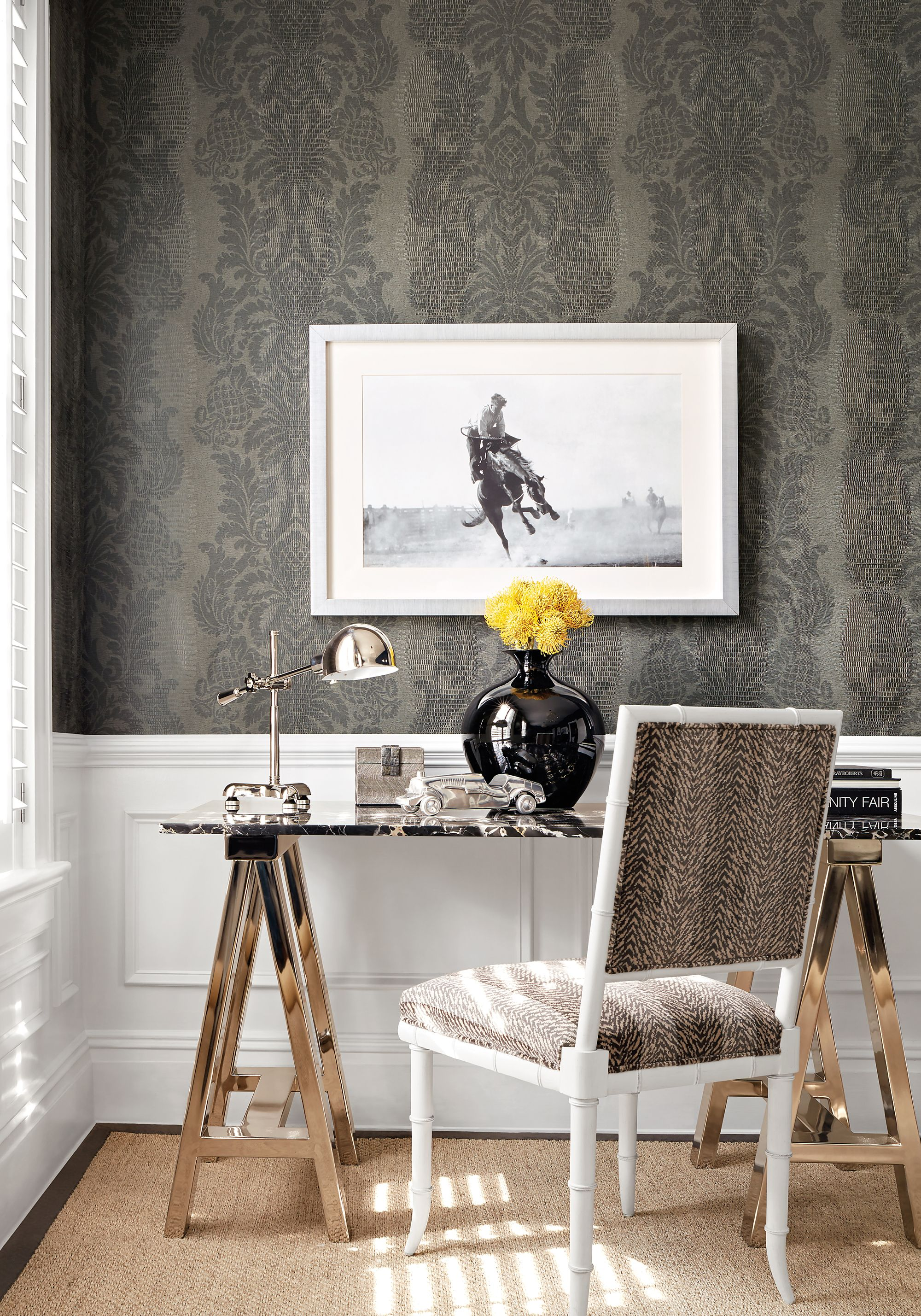 wallpaper designs for office. Darien Chair From Thibaut Fine Furniture In Tigris Velvet Woven Fabric Brown. Damask WallpaperWallpaper DesignsGrey OfficeFrench Wallpaper Designs For Office A