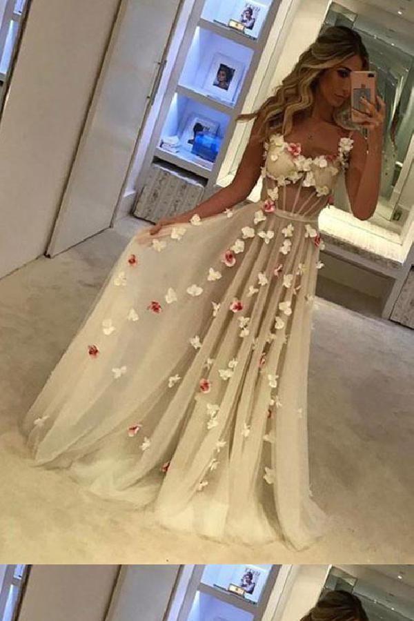 Prom Dresses 2019 Prom Dresses Long Prom Dresses For Cheap Prom Dresses 2019 Long For Cheap White Prom Dress Long Tulle Prom Dress Flower Prom Dress