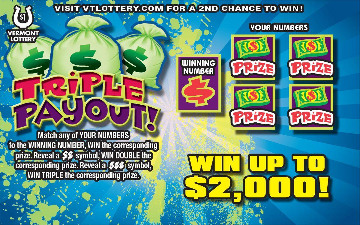 1 Triple Payout! Winning numbers, Lottery, 2nd chance