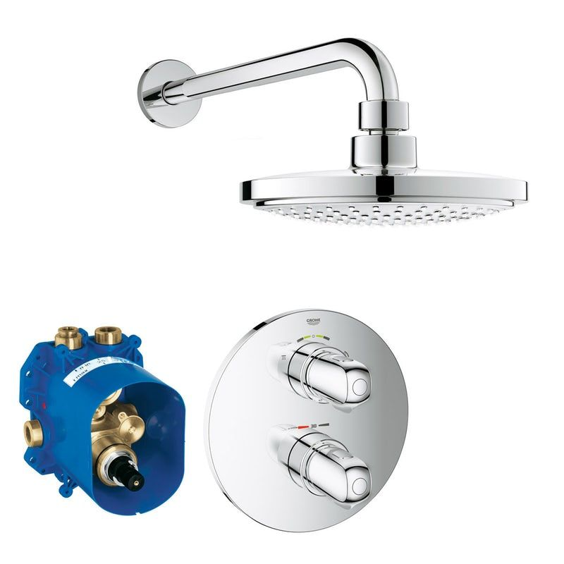 Grohe Grohtherm 1000 Concealed Thermostatic Shower Set With Wall