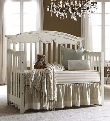 Distressed White Crib Cute Baby Things Cribs Wooden