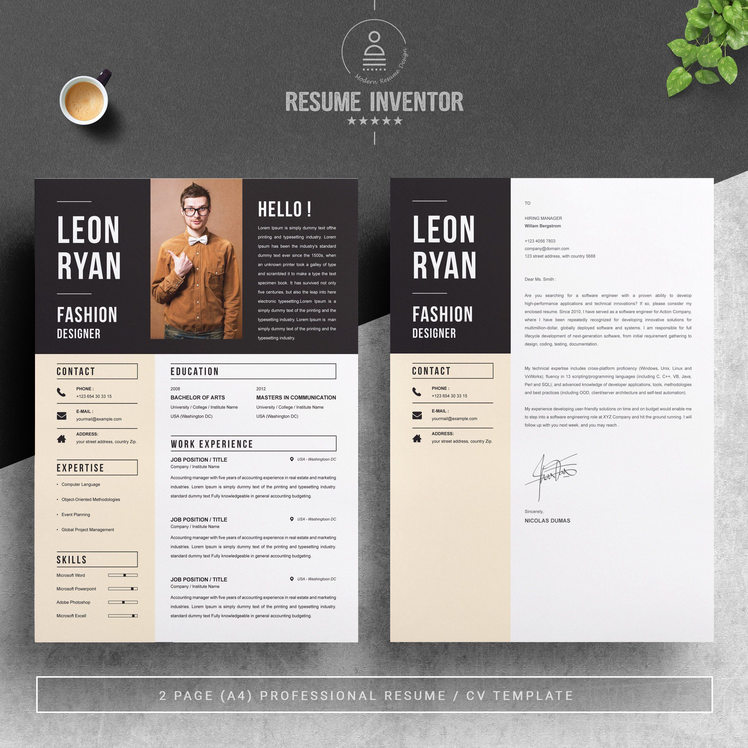 Bold Resume Template Resume Template Resume Resume Template Word