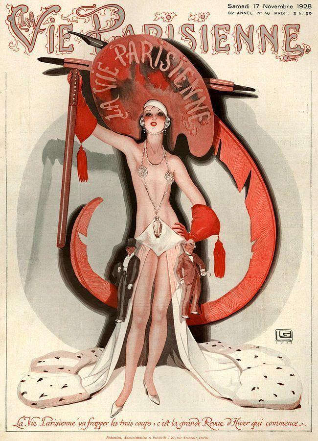 la vie parisienne november 1928 illustration by georges leonnec art pinterest art deco. Black Bedroom Furniture Sets. Home Design Ideas