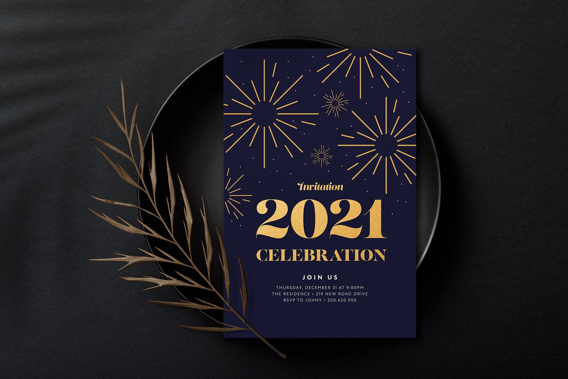 2021 New Year Party Chic Invitation In 2021 Chic Invitation New Years Party New Years Eve Invitations