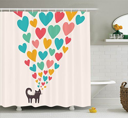 Cat Lover Shower Curtains a Gift for Cat Lovers to Enjoy | Pinterest ...
