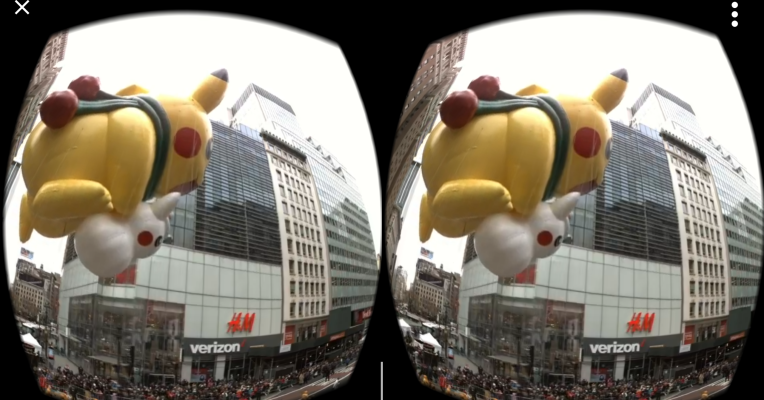 Watching Macy's Thanksgiving Day Parade in Daydream VR is actually fun