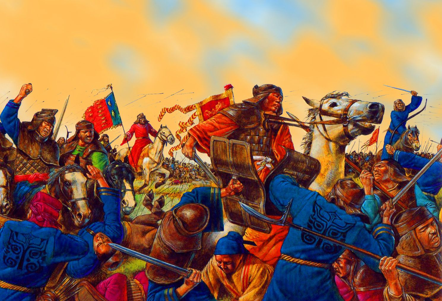 Chinese Sol Rs Of The Han Dynasty Engage In Battle