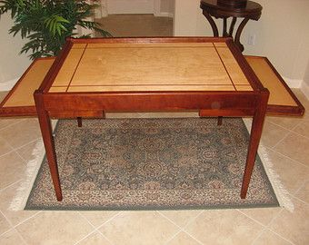 Jigsaw Puzzle Table In Hard Maple With Modern By WoodClassics