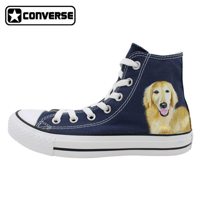 Classic Blue Converse All Star Men Women Shoes Pet Dog Golden