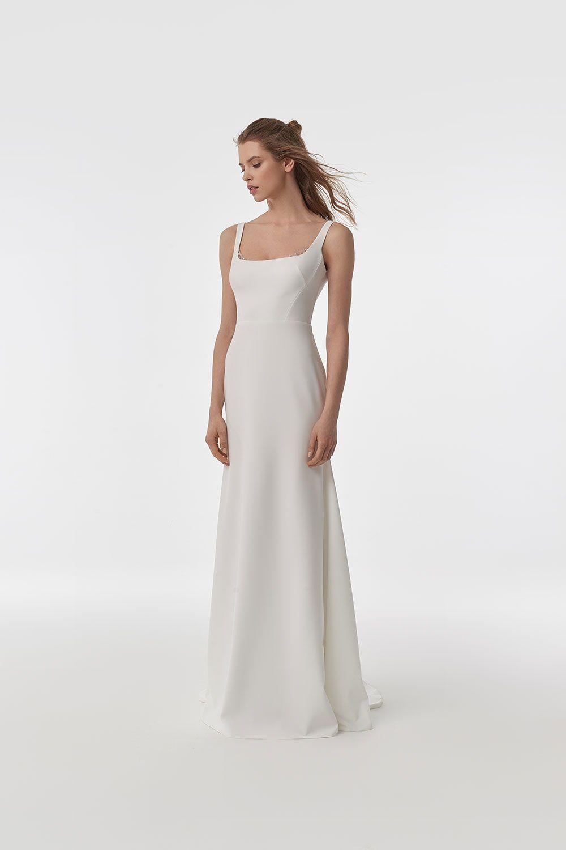 Anna Kara Rita Wedding Dress At Miss Bush Surrey London Minimal Wedding Dress Minimalist Wedding Dresses Bridal Gowns