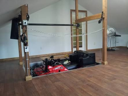 Motorcycle attic lift google search oblivion workshop Garage attic lift elevator