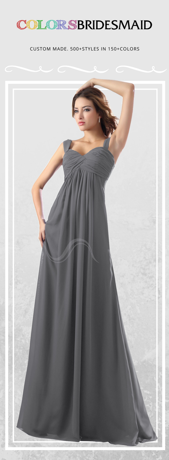 This floor length bridesmaid dress in gray color is made of this floor length bridesmaid dress in gray color is made of chiffon all body ombrellifo Choice Image